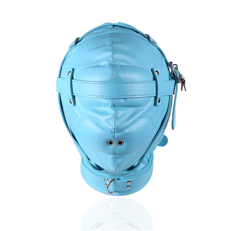 Nouveau BDSM bleu avec verrou sexy respirant perruques Couple bondage flirter SM masque jouets