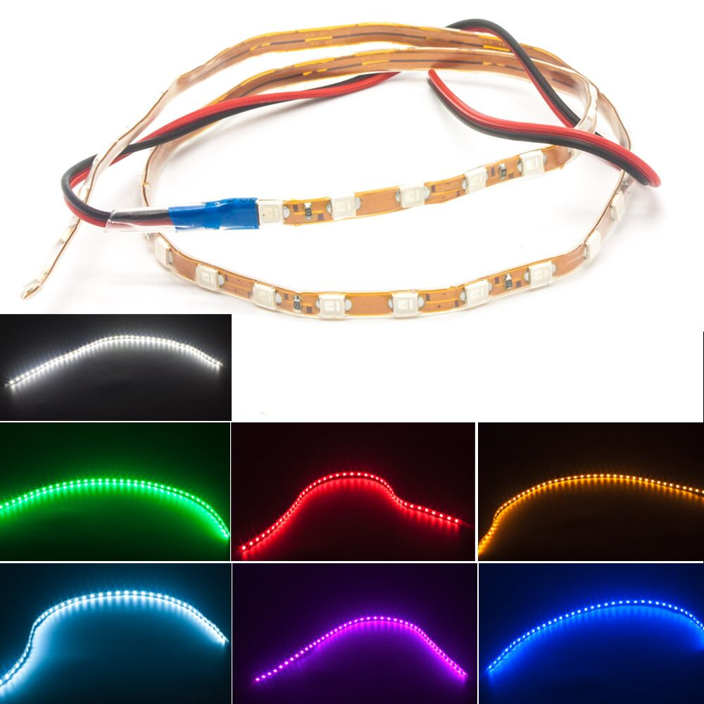 45CM 1210 Flexible Soft Tube 12V DRL Universal Car Flexible LED Eyebrow Strip Light Lamp Bar yec ccs pcu