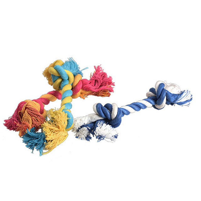Pets Cotton Chew Knot Toy Durable Braided Bone Rope
