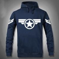 Hohe Qualität NEUE 2015 Marvel Captain America 2 Kostüm Hero Hoody Hoodies Männer USA Cosplay Kleidung Sweatshirt 3XL