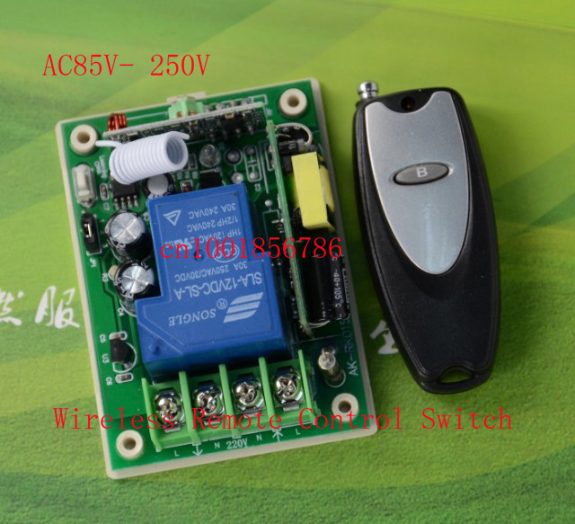 RF wireless remote control Power switch system Receiver &Transmitter 315/433MHZ 85V-280V 110V etc wide range voltage wireless pager system 433 92mhz wireless restaurant table buzzer with monitor and watch receiver 3 display 42 call button