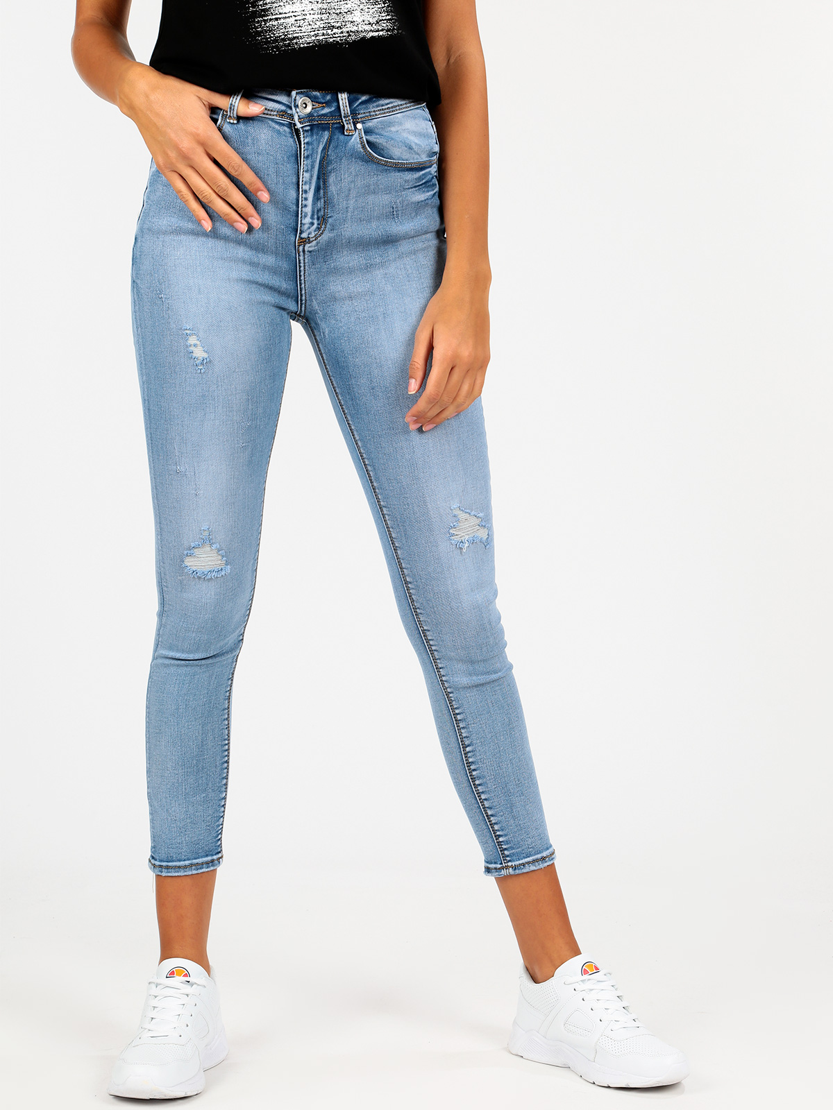 Light Denim Ripped Skinny Fit
