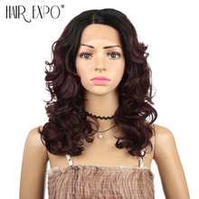 Hair Expo City Body Wave Synthetic Lace Front Wig Natural Hair Side Par
