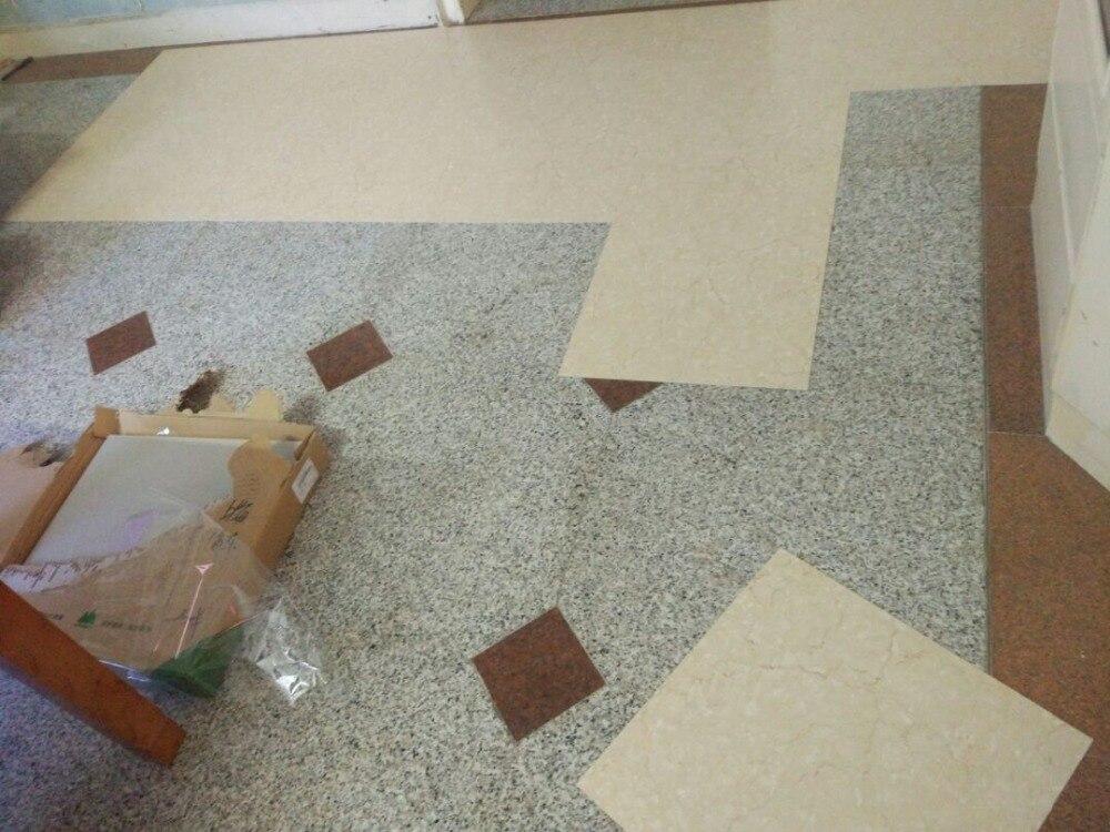 Marke Neue selbstklebende Stein korn pvc bodenbelag kunststoff boden fliesen wasserdichte tapete 10 Quadratmetern (1 pack 50 stück) - 4