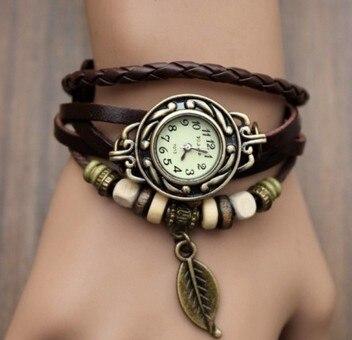 multicolor-high-quality-women-genuine-leather-vintage-quartz-dress-watch-bracelet-wristwatches-leaf-gift-christmas-free-shipping