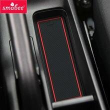Smabee автомобиля ворота слот площадку для Honda Jazz fit4 2014-2017 нескользящей коврики Автомобильный интерьер coaster пыли подушки красный/синий/белый