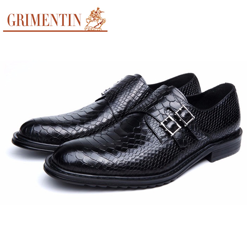 Grund Echtes Vintage Qualität Black Fashion Braun Grimentin Wohnungen Klassische Top Leder Männer brown 2017 Schwarz Schuhe Kleid Männlichen Beiläufige 6wzq745