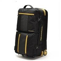 LeTrend 32 дюймов Большой ёмкость дорожная сумка сумки на колёсиках комплект Оксфорд Многофункциональные чемоданы колеса для мужчин Проверено