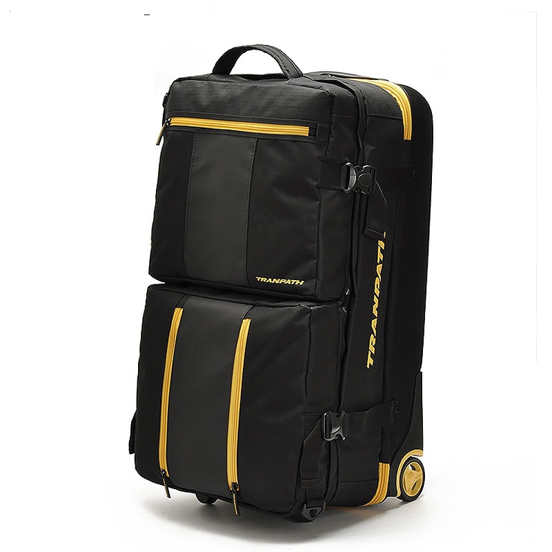 LeTrend 32 inch large capacity Travel Bag Rolling Luggage Set Oxford Multifunction Suitcases Wheel Men checked luggage