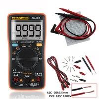 AN8009 True RMS Auto Range Digital Multimeter NCV Ohmmeter AC/DC Voltage Ammeter Current Meter temperature measurement New