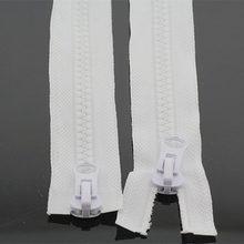 1pcs/LOT sewing accessories NO.8 metal slider resin zipper,decorative COAT&Travel bags,home DIY materials,SIZE120CM-400CM
