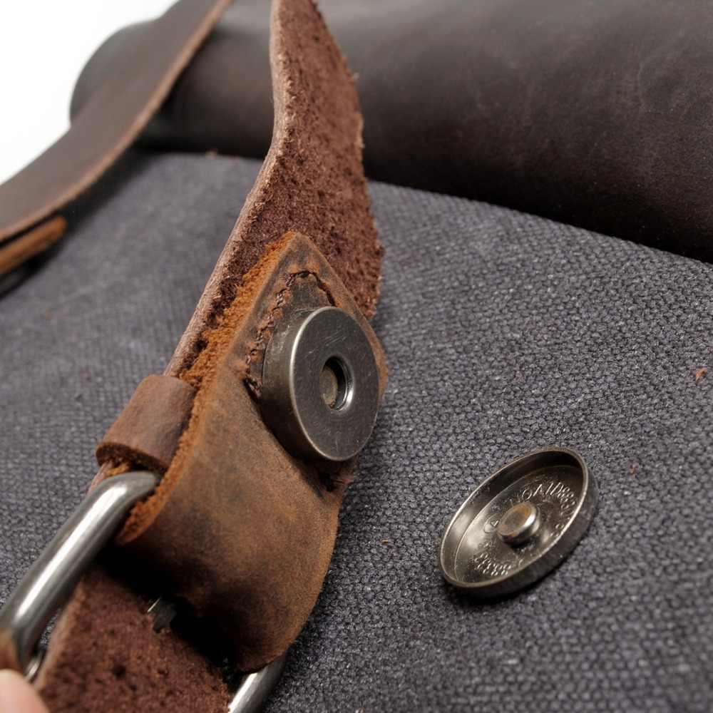 M030 חם חדש תכליתי אופנה גברים תרמיל בציר בד תרמיל עור תיק בית ספר ניטראלי נייד עמיד לשיחקה נסיעות תיק