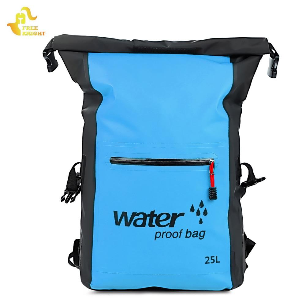 Free Knight 25L Waterproof Dry Bag Backpack Storage Bag Rafting Kayaking Canoeing Swimming Bags Travel Kits Outdoor Backpack