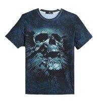 Mens 3D Dark Skull Print Short Sleeve Hip Hop Tattoo Baseball Shirts Workout Man S Printed
