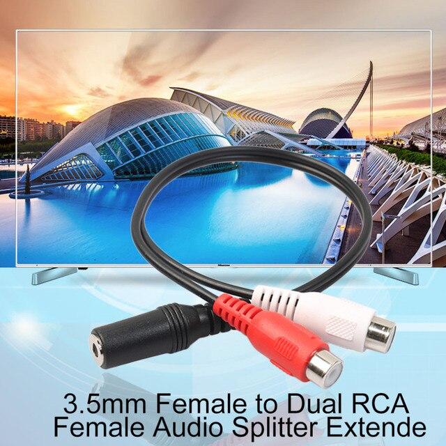 Practical Single 3.5mm Female to Dual RCA Female Audio Splitter ...