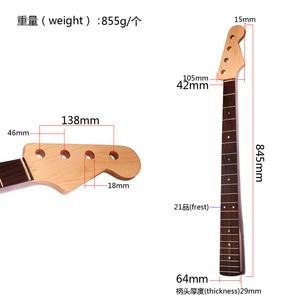 Image 5 - BASS Neck 4 string bass guitar 21 frest Maple panel rose wood Fingerboard  Guitar Accessories