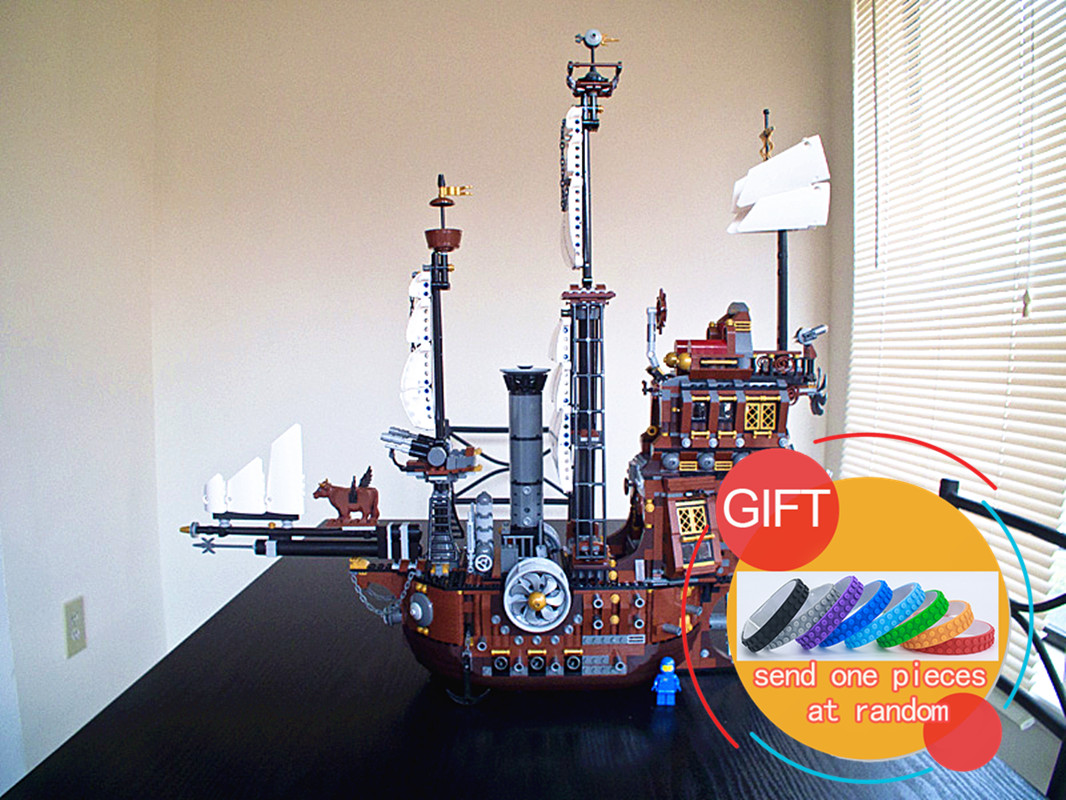 16002 2791Pcs Pirate Ship Metal Beard's Sea Cow Model Building Kits Mini Compatible With 70810 toys lepin lepin 16002 pirate ship metal beard s sea cow model building kit block 2791pcs bricks compatible with legoe caribbean 70810
