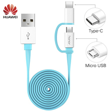 Original Huawei 2 in 1 Micro USB Typc C 2A 1.5m Cable Fast Charger Honor 8 9 V9 P7 P8 P9 P10 nova lite Plus Type-C Charge Cable