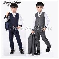 2018 Retro gentleman style custom made Boy's suits tailor suit Blazer suits for boy 3 piece (Jacket+Pants+Vest)The suits
