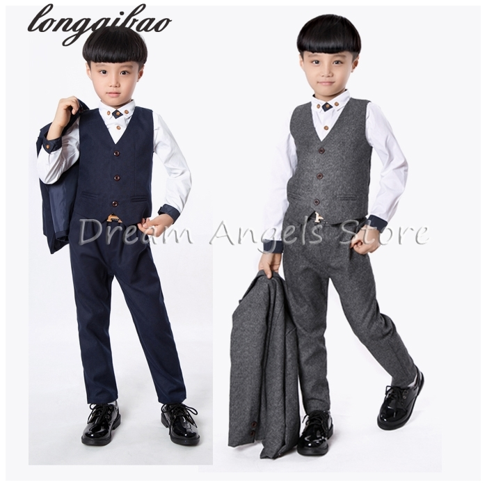 2018 Retro gentleman style custom made Boys suits tailor suit Blazer suits for boy 3 piece (Jacket+Pants+Vest)The suits2018 Retro gentleman style custom made Boys suits tailor suit Blazer suits for boy 3 piece (Jacket+Pants+Vest)The suits