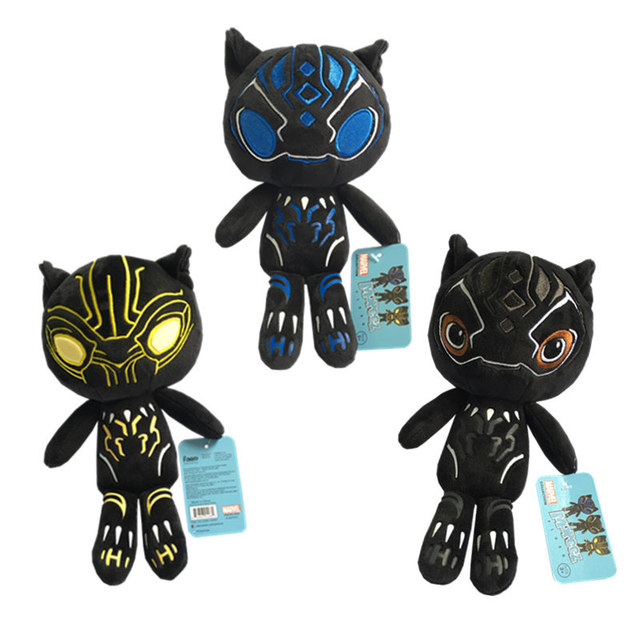 3d47be51cc58 2018 Hot Marvel The avengers Black Panther Plush Toy Stuffed Doll Action  Figure Toys For Boys