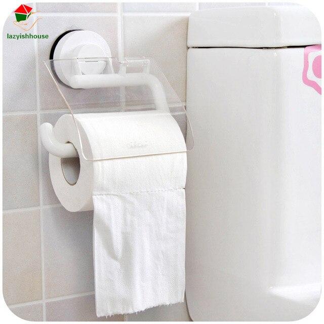 Bathroom Tissue sucker wall toilet tissue waterproof tissue box bathroom organizer