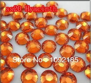 SS20 5mm 10000pcs/pack Flat back Acrylic Rhinestones Hyacinth Color Nail Art Rhinestones Free Shipping