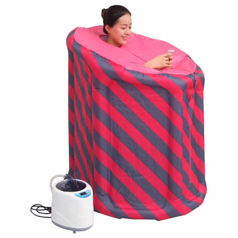 Portable Inflatable Foldable Steam Sauna Tent for Calories Burned and Keep Skin Healthy Sweating Box Home Indoor Steaming Room Fumigation Machine 2l