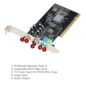 Image 5 - PCI Internal TV Tuner Card MPEG Video DVR Capture Recorder PAL BG PAL I NTSC SECAM PC PCI Multimedia Card Remote