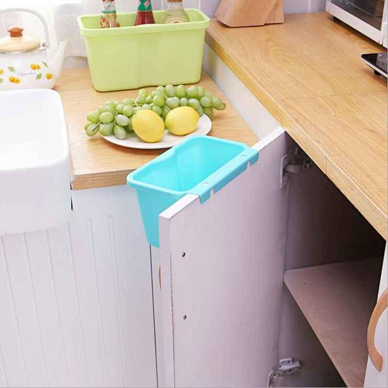 Keuken Opknoping Vuilnis Storgae Doos Thuis Kabinet Deuren Prullenbak Organizer Vierkante Vuilnis Container Groenten Voedsel Vuilnisbak