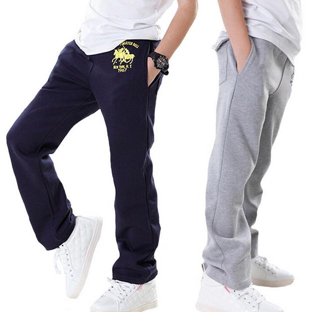 2017 roupas de primavera das crianças calças meninos cavalo sólida casuais fino algodão boy calças para meninos crianças grandes calças compridas calças