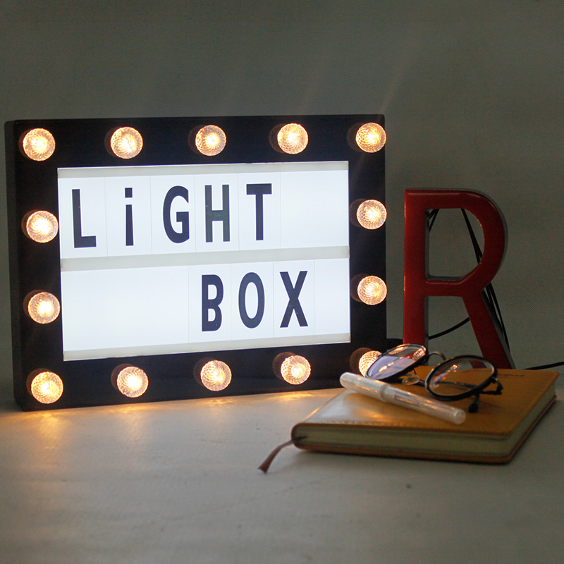 A4 LED Cinematic light box with 100 Number Combination Cards Letter Usb Powered ...