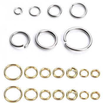 SAUVOO 1 Pack Stainless Steel Open Jump Ring Gold Silver Double Loop Split Ring Connector for DIY Necklace Jewelry Supplier 1