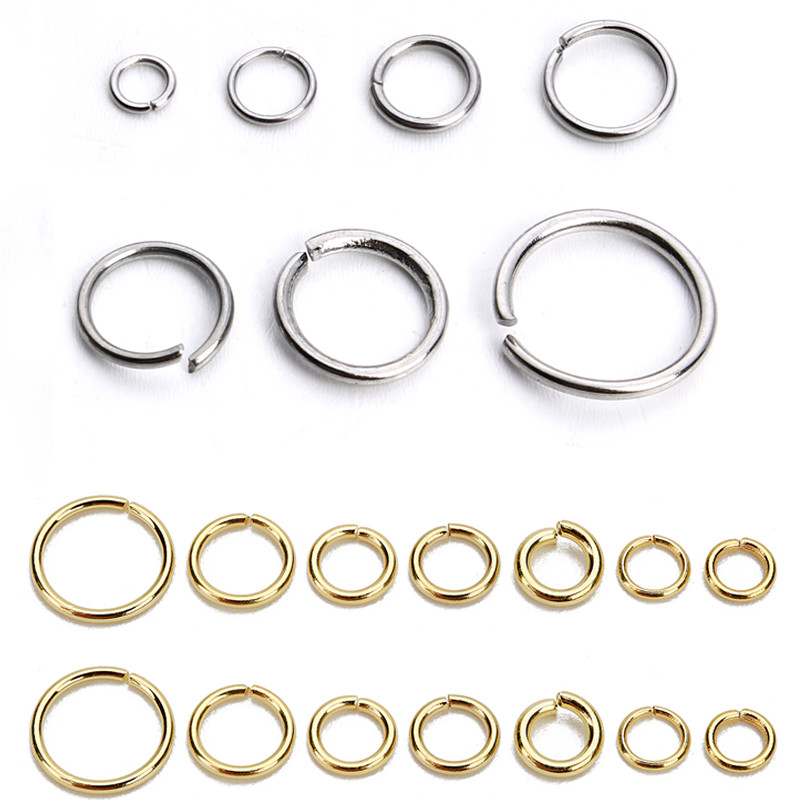 SAUVOO 1 Pack Stainless Steel Open Jump Ring Gold Silver Double Loop Split Ring Connector For DIY Necklace Jewelry Supplier