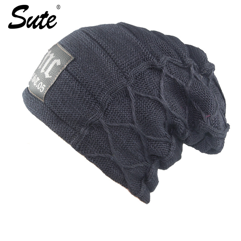 sute Elegant  Hat Winter & Fall Beanies Knitted Hats For   Cap Autumn And Winter  Fashion Casual Unisex Caps Man's and women's fashion winter hat solid color woolen flat top cap unisex autumn and winter cap w005