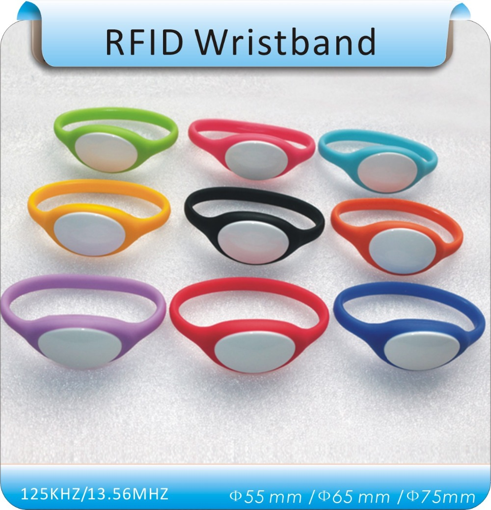 100pcs TK4100 125Khz RFID Wristband Bracelet Silicone  Waterproof Proximity Smart Card Watch Type for Access Control 100pcs lot 13 56mhz rfid silicone wristband bracelet nfc ntag213 ntag216 smart proximity card waterproof for access control