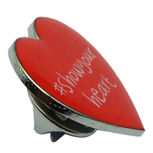 Custom Cheap Factory Red Heart LED Cute Badges Lapel Pin for Sale