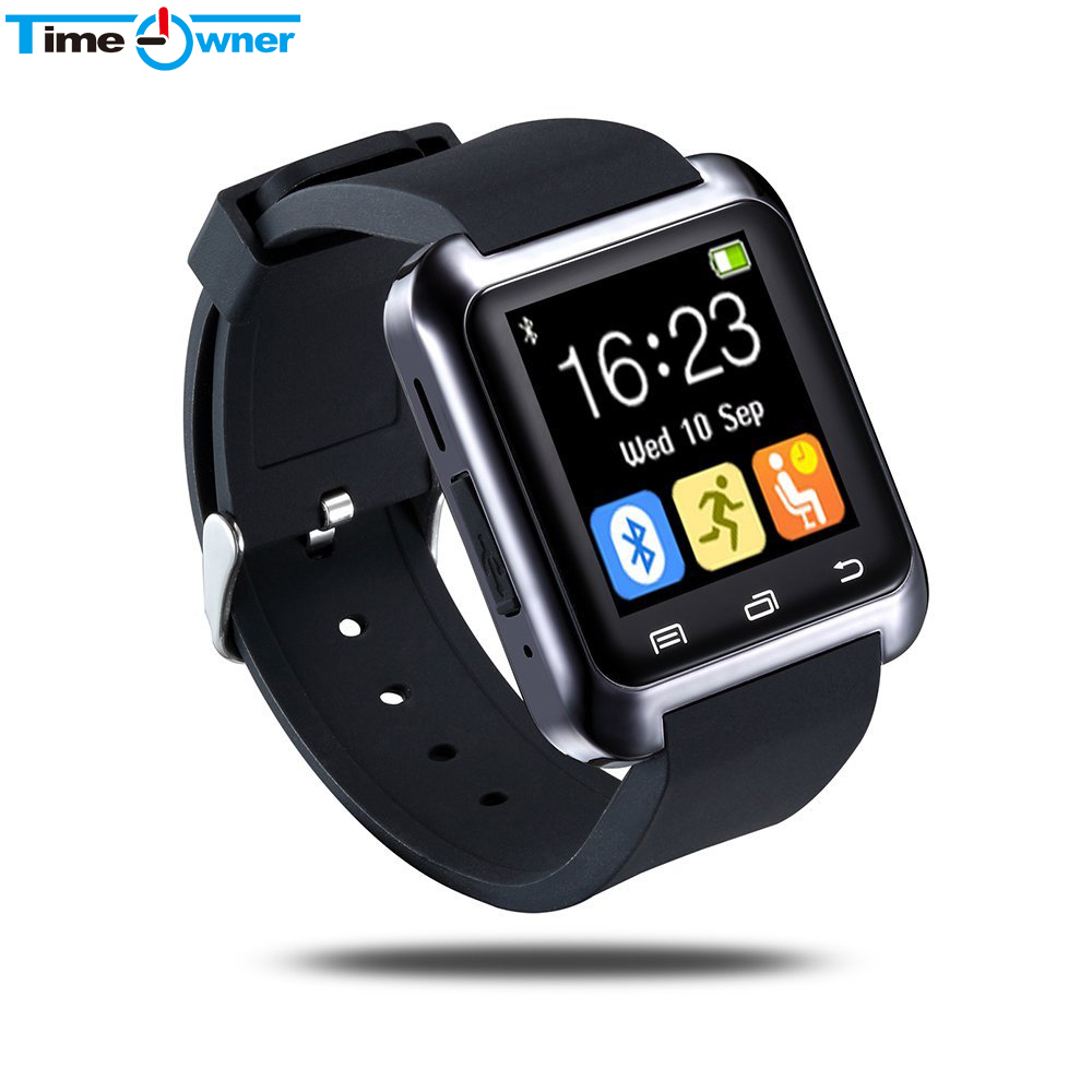 imágenes para Anroid TimeOwner Inteligente Reloj Bluetooth Inteligente Reloj Reloj Reloj Smartwatch para IPhone Samsung Android Xiaomi Smartphones