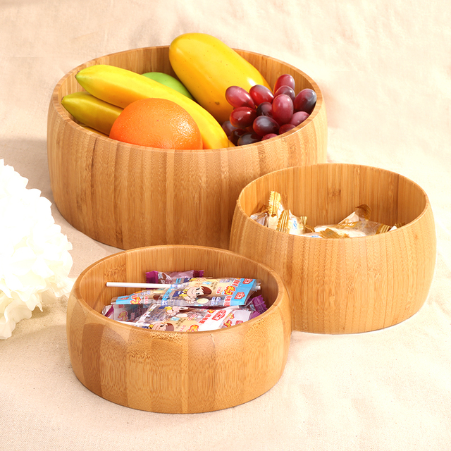 Bamboo fruit tray desktop storage box nuts desserts plates eco-friend natural wood party wedding & Bamboo fruit tray desktop storage box nuts desserts plates eco ...