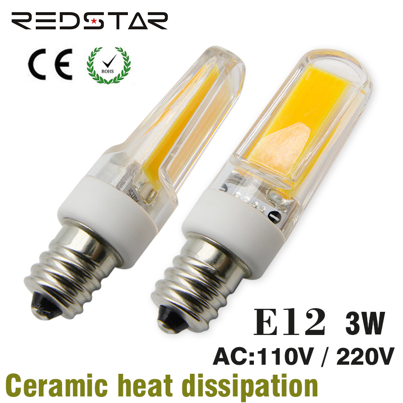 E12 T3 Led Bulb: E12 Led Lamp Jd T3 T4 Light Bulb 110 130V 3W 4W 5W Replace