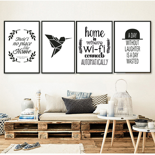moderne nordic canvas quotes zwart wit posters prints pop wall art foto woonkamer interieur with zwart wit posters