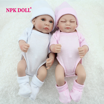 10 Inch Preemie Bonecas Bebes Reborn De Silicone Baby Dolls For Sale Fashion Twin Boy And Girl Toy Gift