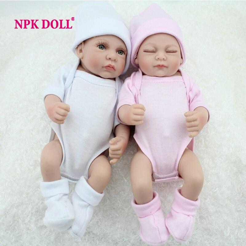10 pouces Preemie Bonecas Bebes Reborn De Silicone bébé poupées à vendre mode jumeau garçon et fille jouet cadeau