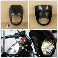 Lower Vented Leg Fairing Head Light Front Visor Fairing Mask Cover For Harley Dyna Sportster XL1200 XL883 Touring Street Glide