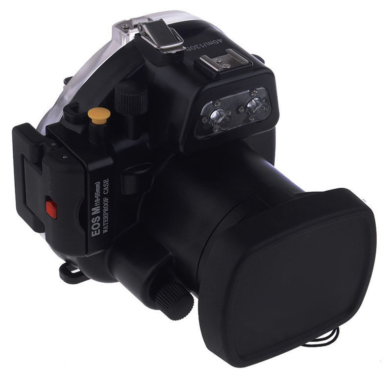 40M / 130FT  Waterproof Underwater Camera Housing Diving Case for Canon EOS-M 18-55 Lens  for EOS M mcoplus 40m 130ft waterproof underwater camera housing case for canon eos 70d 18 135mm lens