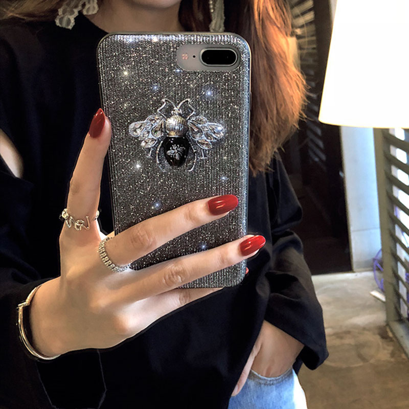 bling bling luxury cute iphone 6 6s 7 8 plus x xr xs max case  (9)