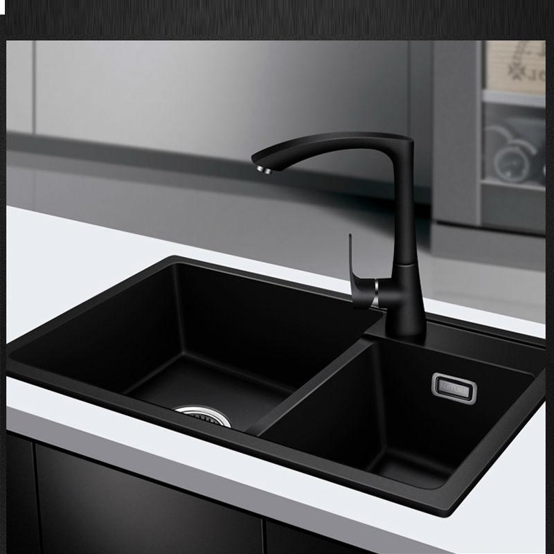 Quartz Kitchen sink Free shipping double groove double bowl ...