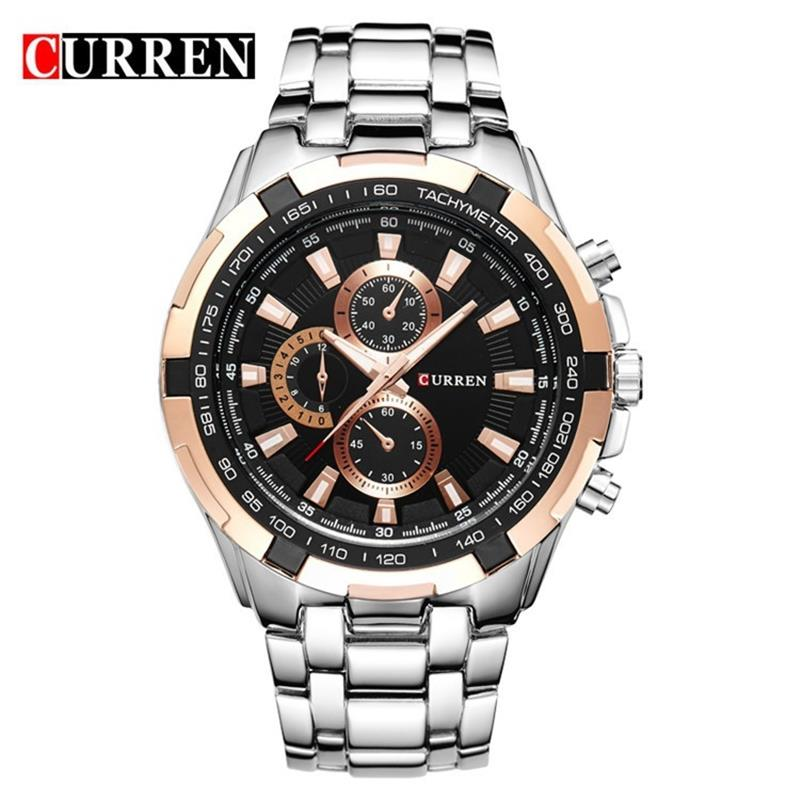 Curren Watches Brand Luxury Full Stainless Steel Military Quartz Watch Mens Casual Sport Clock Male Wristwatch Relogio Masculino hot sale fashion sea wave watch women watches fabric strap ladies watch quartz clock lady hour montre femme relogio feminino page