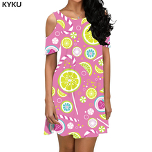 KYKU Brand Flower Dress Women Psychedelic Korean Style Fantasy Beach Pink Short Gothic Boho Womens Clothing Elegant New