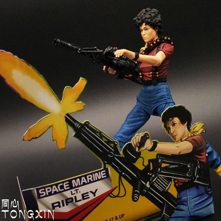 ФОТО  NECA Ripley Aliens vs Rredator Movable Doll Model Handmade Toys T47